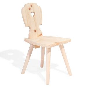 Kinderstuhl aus Zirbenholz - echte Handarbeit aus Südtirol - 4betterdays
