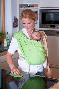 Modell 'Maigrün' - Babytuch - das patentierte Tragetuch ohne Knoten