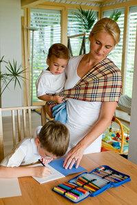 Modell 'Klassisch Karo' - Babytuch - das patentierte Tragetuch ohne Knoten