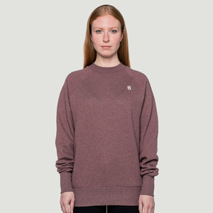 'Logo' Crewneck Sweater Heather Rose - Rotholz