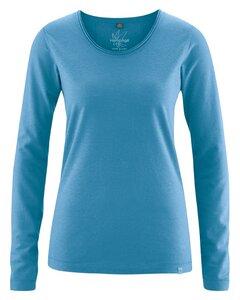 HempAge Damen Langarm-Shirt Lene Hanf/Bio-Baumwolle - HempAge