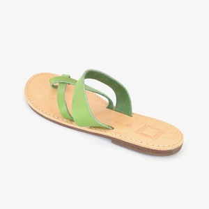 '23 Leder Sandalen Light Green - SORBAS