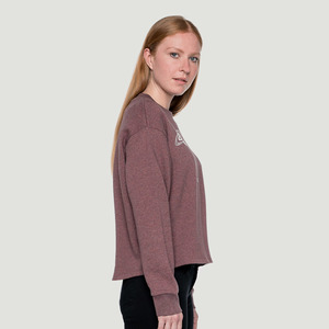 'Space' Cropped Sweater Heather Rose - Rotholz