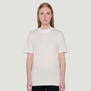 'Basic' T-Shirt Big Collar White - Rotholz