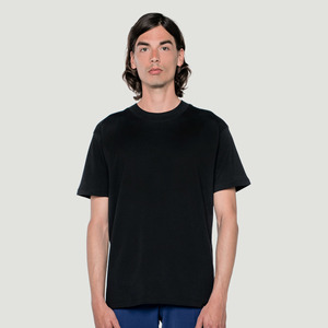 'Basic' T-Shirt Big Collar Black - Rotholz
