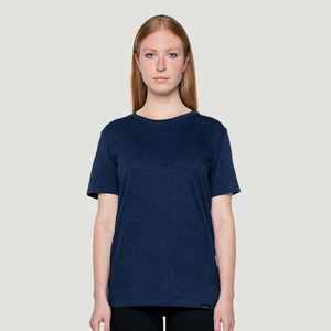 'Basic' T-Shirt Heather Denim - Rotholz
