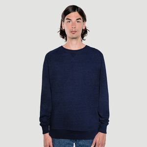 'Basic' Crewneck Sweater Heather Denim - Rotholz