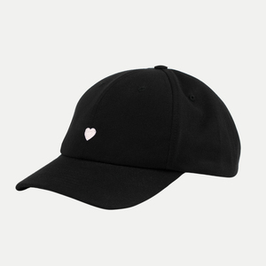 'Heart' Dad Cap Black - Rotholz