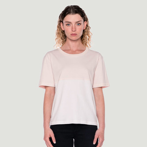 'Divided' T-Shirt Pink/White - Rotholz