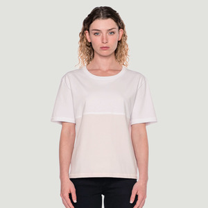 'Divided' T-Shirt White/Pink - Rotholz