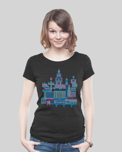 Low Cut Shirt Women Dark Heather Black B-Town - SILBERFISCHER