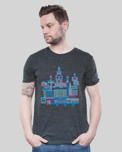 "Shirt Men Dark Heather Grey ""B-Town"" - SILBERFISCHER"