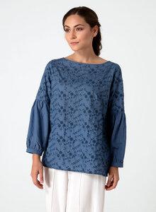 Langarm Bluse aus Tencel® mit Stickerei - ORGANICATION