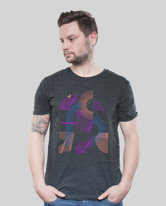 "Shirt Men Dark Heather Grey ""Abstrakt"" - SILBERFISCHER"