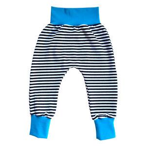 Baby Ringel Haremshose Bio Baumwolle Jersey Sommer Kinder schwarz weiß - betus