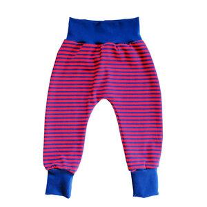 Baby Ringel Haremshose Bio Baumwolle Jersey Sommer Kinder rot blau - betus