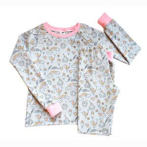 Kinder Schlafanzug Bio Baumwolle Regenbogen - betus