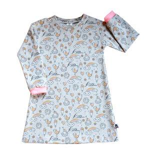 Kinder Nachthemd Bio Baumwolle Regenbogen - betus
