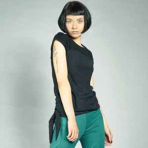 LASALINA - Rundhalsshirt mit Rib Passe aus Biobaumwolle - LASALINA