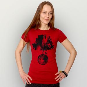 'Schaukelbaum' Frauen T-Shirt FAIR WEAR ORGANIC - shop handgedruckt