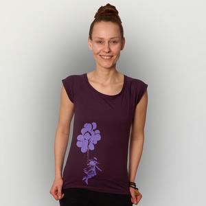 'Luftballons' Bamboo Jersey T-Shirt  - shop handgedruckt