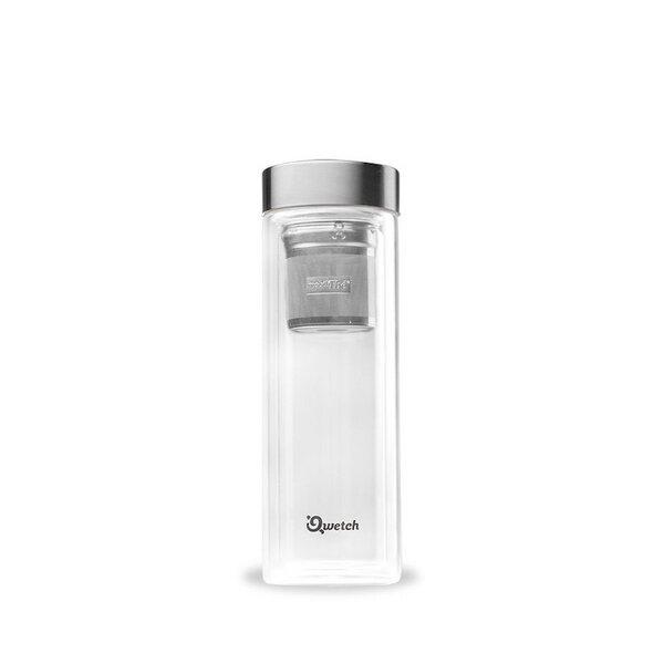 Isolierte Glas Teekanne - Thermoskanne mit 2 Teefiltern - 430ml