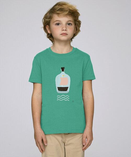 kultgut t shirt mit motiv piratenschiff im glas avocadostore. Black Bedroom Furniture Sets. Home Design Ideas