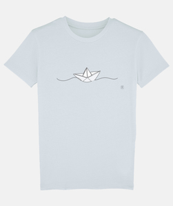 T-Shirt mit Motiv / Papierschiff - Kultgut