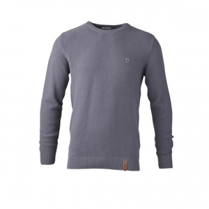 Pullover Basic Knit grey melange - KnowledgeCotton Apparel