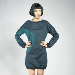 LASALINA - Elegantes SATIN Sommerkleid  - LASALINA