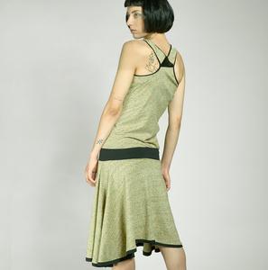 LYDIA - TankTop Sommerkleid aus melierter Baumwolle - LASALINA