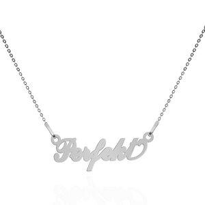 PERFEKT Motto-Halskette – 925er Sterling Silber – rhodiniert - JuliaPilot