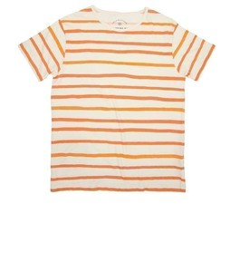Thinkin MU Aquarela Orange Stripes Tee - thinking mu