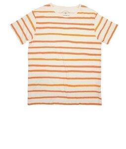 Thinkin MU Aquarela Orange Stripes Tee - thinking mu