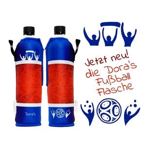 Glasflasche mit Fußball-Neoprenbezug 500ml - Dora
