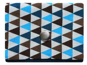 Leesha WILDe Upcycling Mini Portemonnaie Drei-Blau - Leesha