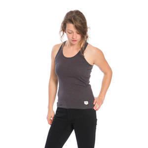 Basic Active Tanktop Damen Anthrazit Flamé - bleed