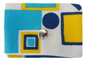 Mini Portemonnaie Geometrie, Upcycling von Leesha - Leesha