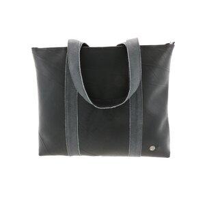Ramblas - stylischer Shopper aus Reifenschlauch und Öko-Leder - grau - MoreThanHip