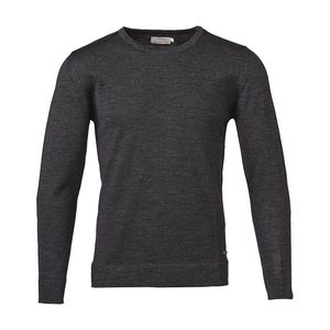 Basic Round Neck Dark Grey - KnowledgeCotton Apparel