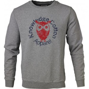 Sweat W/ Owl Print grey - KnowledgeCotton Apparel