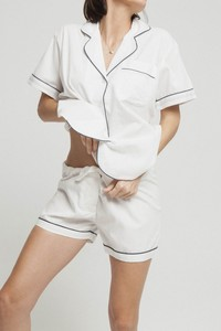 White Short Classic Pijama - Snow White - thinking mu