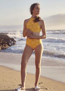 Reversible Surf bikini Peniche 2P Top - Painting Print / Delfin Print - BOO Surfwear