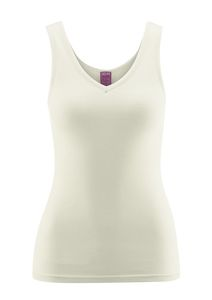 Damen Unterhemd mit V-Ausschnitt - Living Crafts