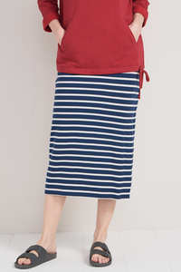 Sailor Skirt Breton Marine Ecru - Seasalt Cornwall