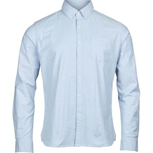 Hemd - Stretched oxford shirt - Lapis Blue - KnowledgeCotton Apparel
