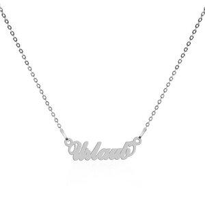 Urlaub Motto-Halskette – 925er Sterling Silber – rhodiniert - JuliaPilot