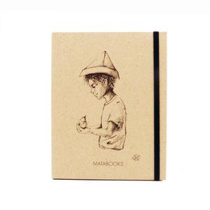 Notizbuch Graspapier 'Fallenbird' (black/carton) - Swiss Brochure  - Matabooks