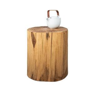 Baumstamm Beistelltisch Buche geölt Holzblock Holzklotz Hocker - GreenHaus