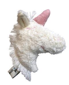 Kuscheltier Greifling mit Rassel 'Einhorn' Kopf , 100 % Baumwolle-kbA - PAT & PATTY